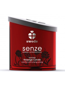 Bougie de massage Teasing Senze Swede Vanille Ylang Ylang - 150 ml