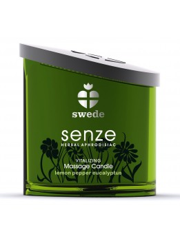 Bougie de massage Vitalizing Senze Citron Eucalyptus - 150 ml