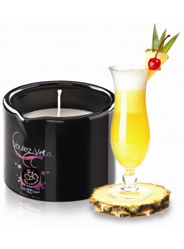 Bougie de massage gourmande Pina Colada - 180 gr