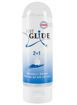 Gel lubrifiant et massage 2 en 1 Just Glide - 200 ml