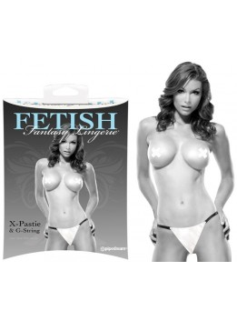 String et Pasties blanc Fetish Fantasy L-XL